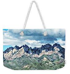 Organ Mountain's Cloud Shadows Weekender Tote Bag