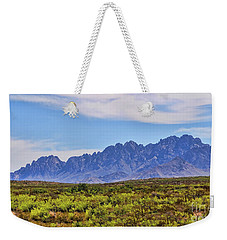 Weekender Tote Bag featuring the photograph Organ Mountains  by Gina Savage