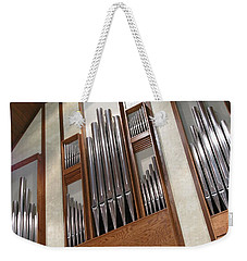 Weekender Tote Bag featuring the photograph Organ Pipes by Ann Horn
