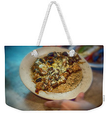Weekender Tote Bag featuring the photograph Organic Churri by Hugh Smith