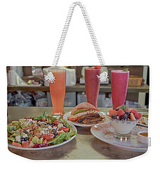 Weekender Tote Bag featuring the photograph Organic Foods by Hugh Smith