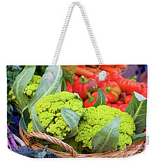 Organic Green Cauliflower At The Farmer's Market Weekender Tote Bag