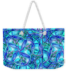 Weekender Tote Bag featuring the digital art Organic In Square by Ron Bissett