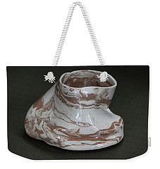 Organic Marbled Clay Ceramic Vessel Weekender Tote Bag by Suzanne Gaff