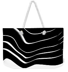 Organic No. 10 Black And White #minimalistic #design #artprints #shoppixels Weekender Tote Bag
