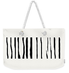 Organic No 12 Black And White Line Abstract Weekender Tote Bag