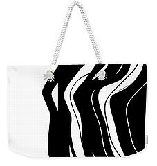 Organic No 5 Black And White Weekender Tote Bag
