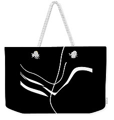 Organic No. 8 White On Black Minimalism Weekender Tote Bag