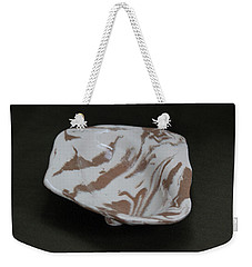 Organic Oval Marbled Ceramic Dish Weekender Tote Bag by Suzanne Gaff