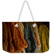 Organic Yarn And Natural Dyes Weekender Tote Bag by Wilma  Birdwell