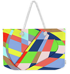 Weekender Tote Bag featuring the digital art Organized Cubic Chaos by Bruce Stanfield