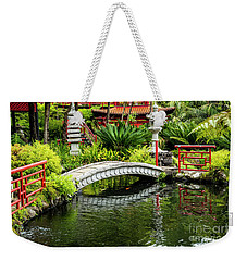Oriental Bridge In A Tropical Garden Weekender Tote Bag