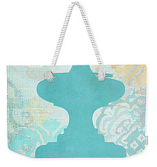 Oriental Far East Design Blue Weekender Tote Bag by Suzanne Powers