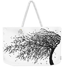 Weekender Tote Bag featuring the mixed media Oriental Foliage by Gina Dsgn
