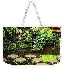 Oriental Garden Stepping Stones Weekender Tote Bag