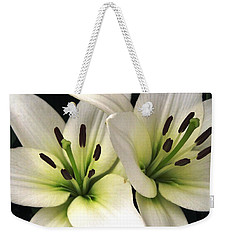 Weekender Tote Bag featuring the photograph Oriental Lily Named Endless Love by J McCombie