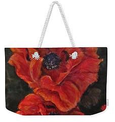 Oriental Poppys  Weekender Tote Bag by Barbara O'Toole