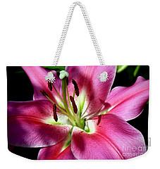 Oriental Trumpet Lily Weekender Tote Bag
