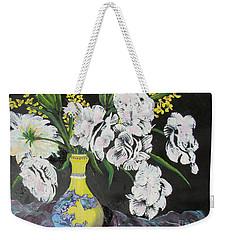 Oriental Vase And Flowers Weekender Tote Bag