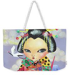 Origami Girl Weekender Tote Bag