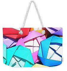 Origami Roses Weekender Tote Bag