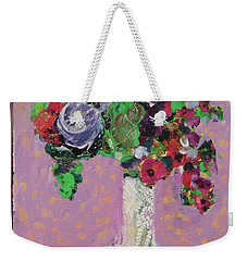 Original Bouquetaday Floral Painting 12x12 On Canvas, By Elaine Elliott, 59.00 Incl. Shipping Weekender Tote Bag by Elaine Elliott
