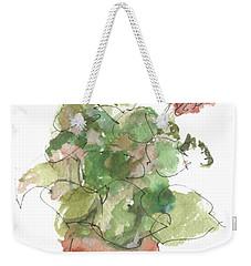 Original Buspaintings Geranium Watercolor Painting By Kathleen Mcelwaine Weekender Tote Bag