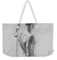 Original Charcoal Drawing Art Male Nude  On Paper #16-3-11-12 Weekender Tote Bag