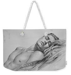 Original Drawing  Art Male Nude Men Gay Interest Boy On Paper #11-02-01 Weekender Tote Bag