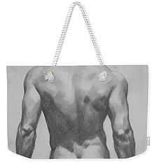 Original  Drawing Artwork Male Nude Men  On Paper #16-1-7 Weekender Tote Bag
