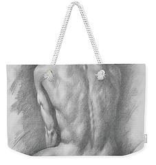 original Drawing male nude man #17325 Weekender Tote Bag