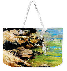 Original Fine Art Painting Pool Edge Gulf Coast Florida Weekender Tote Bag
