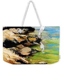 Original Fine Art Painting Pool Edge Gulf Coast Florida Weekender Tote Bag