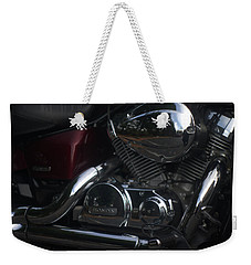 Original Motorcycle File Weekender Tote Bag by Suzanne Powers