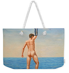 Original  Oil Painting Gay Art Male Nude By Body On Canvas#16-2-5-011 Weekender Tote Bag