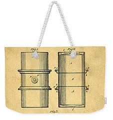 Original Patent For The First Metal Oil Drum Weekender Tote Bag