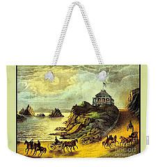 Original San Francisco Cliff House Circa 1865 Weekender Tote Bag by Peter Gumaer Ogden