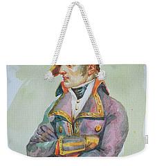 original watercolor painting artwork portrait of NapoLeon on paper#10-029-01 Weekender Tote Bag