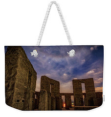 Weekender Tote Bag featuring the photograph Orion Over Stonehenge Memorial by Cat Connor