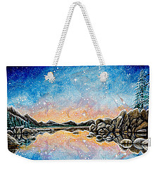 Orion Over Tahoe Winter Weekender Tote Bag