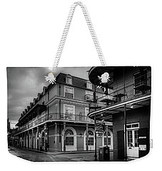Orleans And Bourbon In Black And White Weekender Tote Bag
