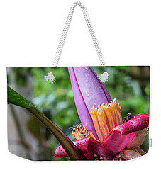 Ornamental Banana Flower Weekender Tote Bag by Kathy McClure