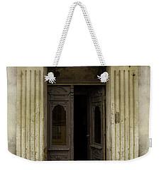 Ornamented Gate In Dark Brown Color Weekender Tote Bag by Jaroslaw Blaminsky