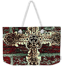 Ornate Cross 1 Weekender Tote Bag by Angelina Vick
