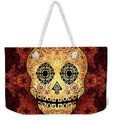 Ornate Floral Sugar Skull Weekender Tote Bag