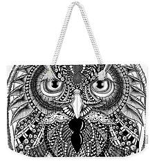 Ornate Owl Weekender Tote Bag