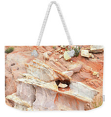Weekender Tote Bag featuring the photograph Ornate Rock In Wash 4 Of Valley Of Fire by Ray Mathis