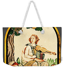 Weekender Tote Bag featuring the mixed media Orpheus by Asok Mukhopadhyay