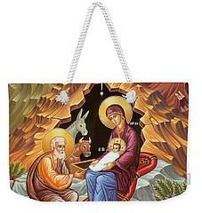 Orthodox Nativity Scene Weekender Tote Bag by Munir Alawi
