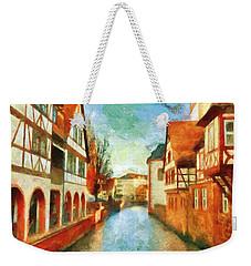 Weekender Tote Bag featuring the digital art Ortschaft by Greg Collins